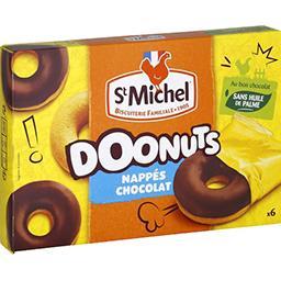 St Michel St Michel Doonuts nappés chocolat le boite de 6 - 180 g
