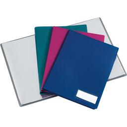 Protege documents crossline a4 80 pochettes assorti