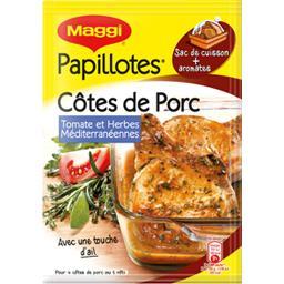 Papillotes - Assaisonnement côtes de porc tomate her...
