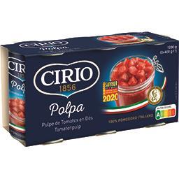 Cirio Cirio Pulpe de tomates les 3 boîtes de 400g