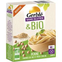 Gerblé Sans Gluten & BIO - Penne farines de riz et pois chi...