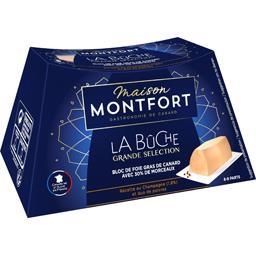 Montfort Bloc de foie gras de canard La Bûche champagne duo p... le foie gras de 300 g