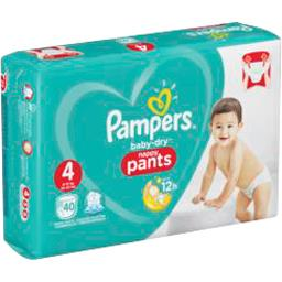 Pampers Baby-dry - pants - taille 4 9-15 kg - couches-culott...