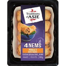 Traditions d'Asie Traditions d'Asie Nems au poulet avec sauce nuoc mam la barquette de 4 - 280 g