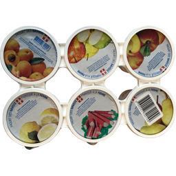 Yaourt des savoie, yaourt nature sur lit de fruits