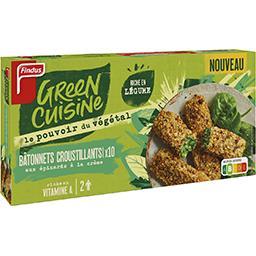 Findus Findus Green Cuisine - Bâtonnets croustillants épinards à la crème la boite de 10 bâtonnets - 284 g
