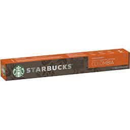 Starbucks Starbucks Capsules de café moulu Colombia La boîte de 10 capsules