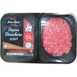Jean Rozé Steaks hachés 15% façon bouchère la barquette de 500 g