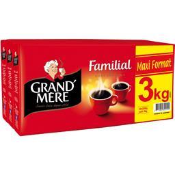 Grand'Mère Grand'Mère Café moulu Familial goût généreux les 3x4 paquets de 250 g