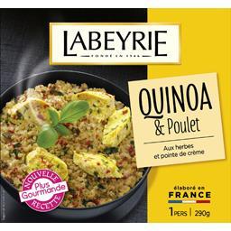 Quinoa & poulet aux herbes et pointe de crème