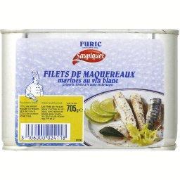 Filets de maquereaux marinés au vin blanc