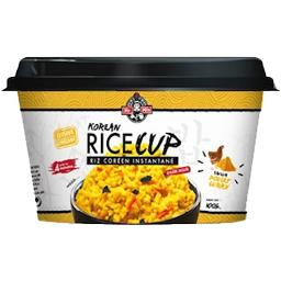 Riz Korean Rice Cup instantané saveur poulet curry