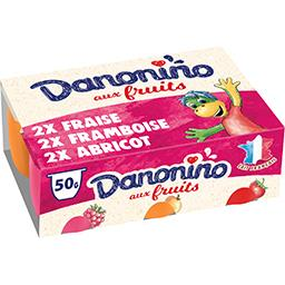 Danone Danone Danonino - Fromage blanc aux fruits les 6 pots de 50 g