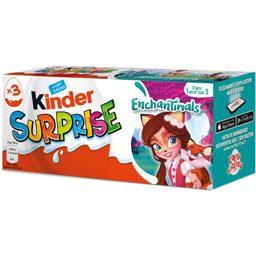 Kinder Kinder Surprise - Œufs chocolat au lait avec surprise les 3 pièces de 20 g