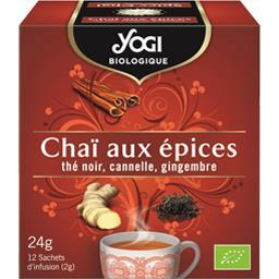 Yogi Biologique Infusion Chaï aux épices BIO la boite de 12 sachets - 24 g