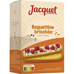 Jacquet Jacquet Baguettine briochée la boite de 24 tranches - 300 g