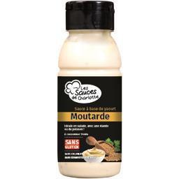 Les Sauces de Charlotte Sauce moutarde à base de yaourt la bouteille de 250 ml