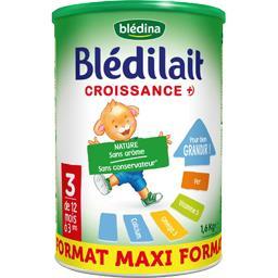 Blédilait Croissance + - Lait en poudre 3, 12 mois à...