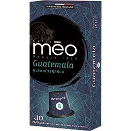 Méo Méo Capsules de café moulu Guatemala la boite de 10 capsules - 53 g