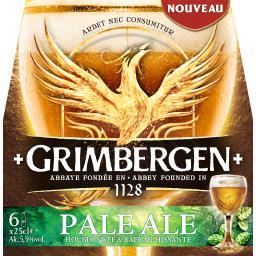 Grimbergen Grimbergen Bière Pale Ale les 6 bouteilles de 25 cl