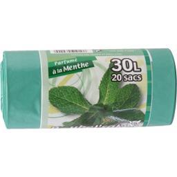 Sac poubelle 30 L parfumé à la menthe