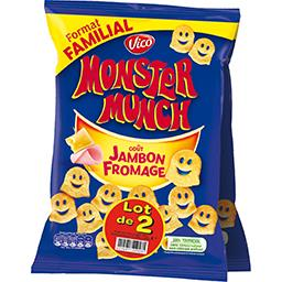 Monster Munch Vico Biscuits apéritif  goût jambon fromage