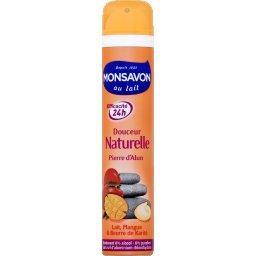 Douceur Naturelle - Déodorant 24h pierre d'alun, lait/mangue/beurre de karité
