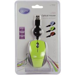 Souris optique USB avec câble rétractable