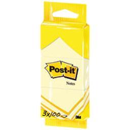 Blocs notes jaunes 38x51 mm