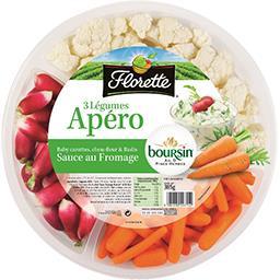 Plateau apéro 3 légumes sauce au fromage