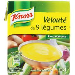 Knorr Knorr Soupe velouté de 9 légumes la brique de 30 cl