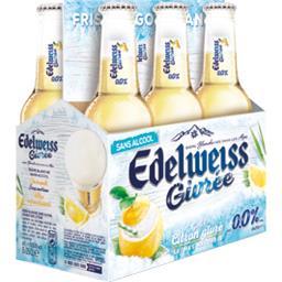 Bière blanche givrée goût citron givré