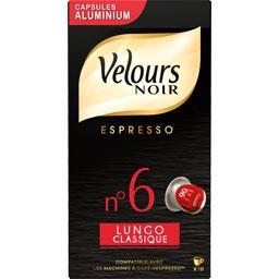Capsules de café moulu Lungo classique n°6