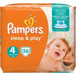 couches sleep & play x36 taille 4 pampers