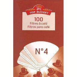 Filtres à café blanc n°4