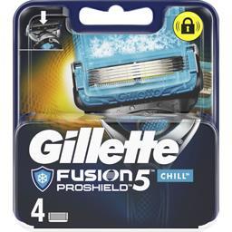 Gillette Gillette Fusion5 proshield chill lames de rasoir pour homme 4recharges La boîte de 4 lames
