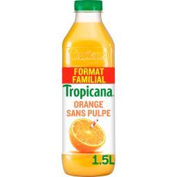 Tropicana Tropicana Pure Premium - Jus d'orange sans pulpe 100% pur jus la bouteille de 1,5 l