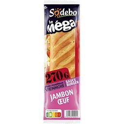 Le Méga - Sandwich viennois jambon œuf sauce Burger