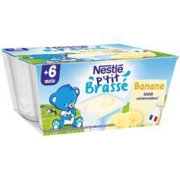 P'tit Brassé - Dessert banane, 6+ mois