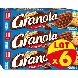 LU LU Granola - Sablés chocolat au lait L'Original les 6 boites de 200 g