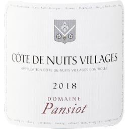 Côtes de Nuits-Villages Domaine Pansiot vin Rouge 20...