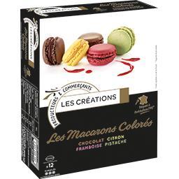 Les Macarons Colorés chocolat/citron/framboise/pista...