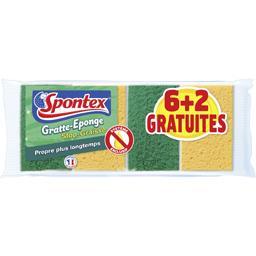 Spontex Gratte éponge stop graisse le lot de 6