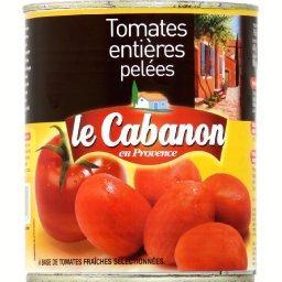 Tomates entières pelées, tomates fraîches sélectionnées
