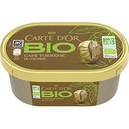 Carte d'Or Carte d'Or Les BIO - Crème glacée café torréfié de Colombie BIO le bac de 450 ml
