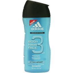 Adidas Adidas Gel douche After Sport, Body Hair Face 3 en 1 le flacon de 250 ml