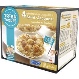 La Tribu Toquée Les Généreuses coquilles Saint-Jacques cuisinées au ... les 4 coquilles de 100 g