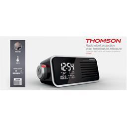 Radio réveil température intérieure projecteur noir CP300T