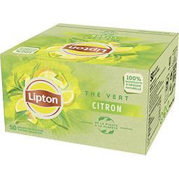 Lipton Lipton Thé vert citron les 50 sachets de 65g