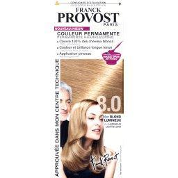 Couleur permanente blond lumineux 8.0